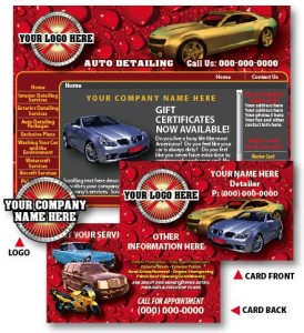 AUTO DETAILING FLYERS, BUSINESS CARDS & LOGO DEVELOPMENT