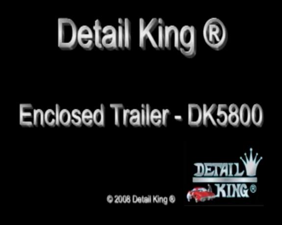 Enclosed Auto Detailing Trailer Video