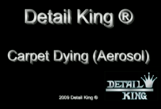Detail King Carpet Dying for Autos – Aerosol System