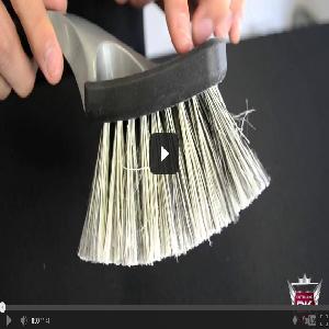 Professional Soft Grip Wheel Brush – Salt & Pepper Bristles