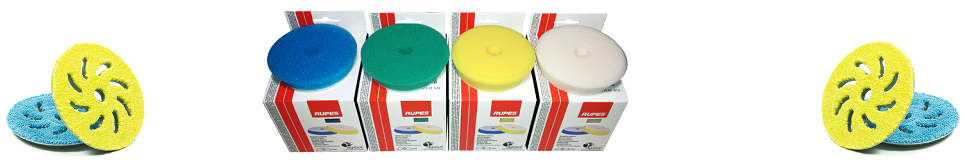 Rupes Foam and Microfiber Pads