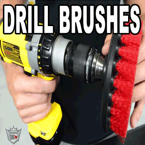 "Drill Brushes 5"" For Car Cleaning"