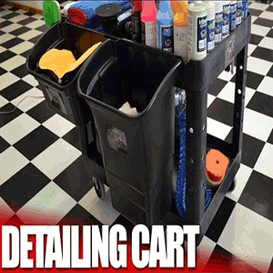 Auto Detailing and Car Wash Supply Cart