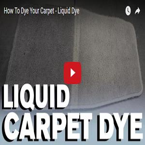How To Dye Your Carpet – Liquid Dye