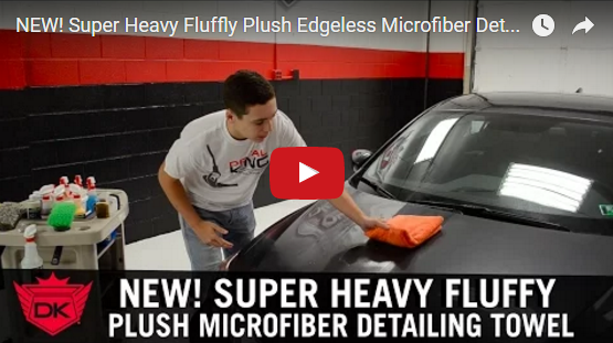 Super Heavy Fluffy Plush Edgeless Microfiber Detailing Towel