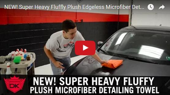 Super Heavy Fluffy Plush Edgeless Microfiber Detailing Towel