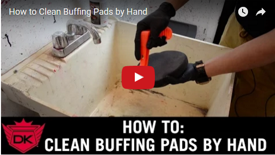 How to Clean Buffing Pads by Hand