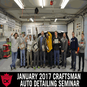 January 6th-8th 2017 Craftsman Auto Detailing Seminar