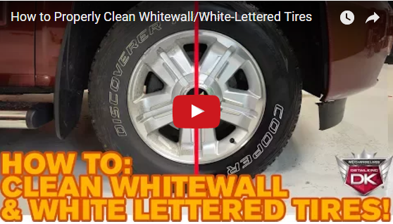How to Properly Clean Whitewall/White-Lettered Tires