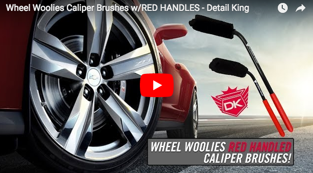 Wheel Woolies Caliper Brushes w/RED HANDLES