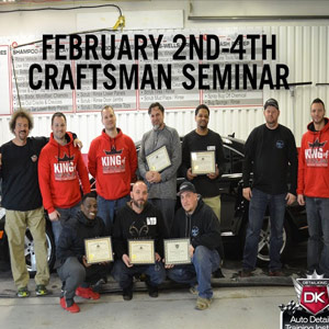 February 2nd-4th 2018  Craftsman Detailing Training Class