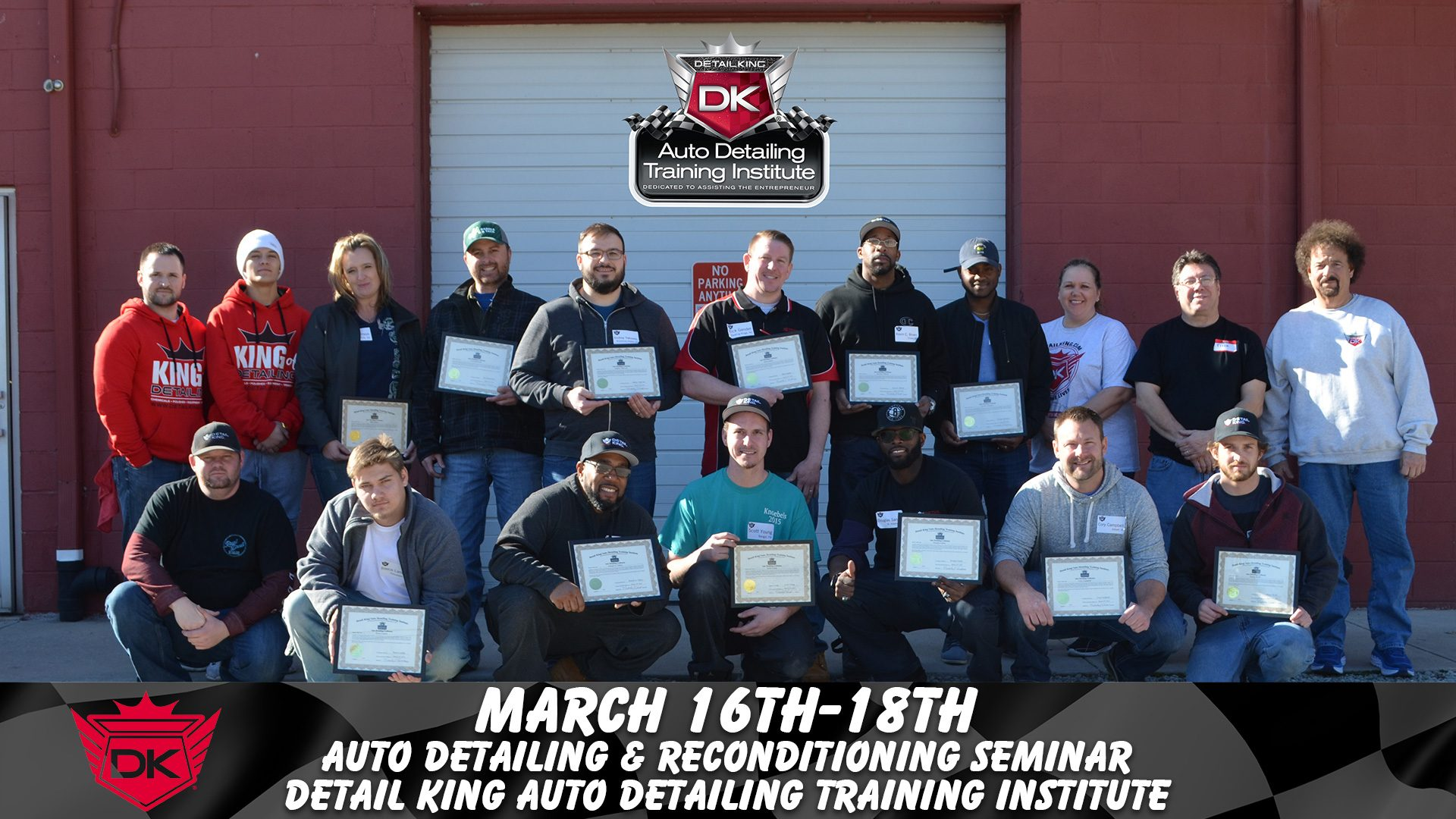 March 16th – 18th 2018 Craftsman Detailing Training Class