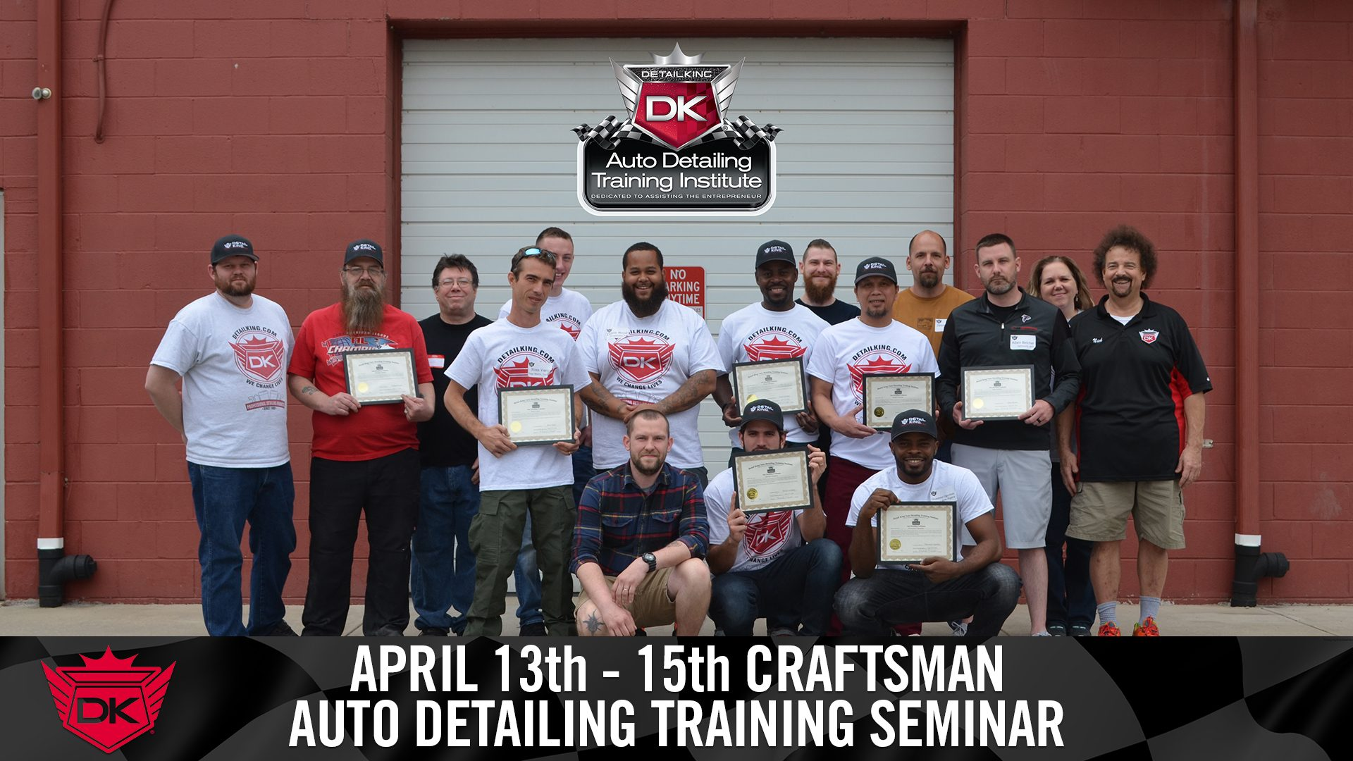 April 13th – 17th 2018 Craftsman Detailing Training Class