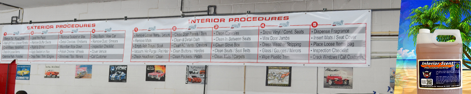Auto Detailing Procedure Banners for Your Shop!