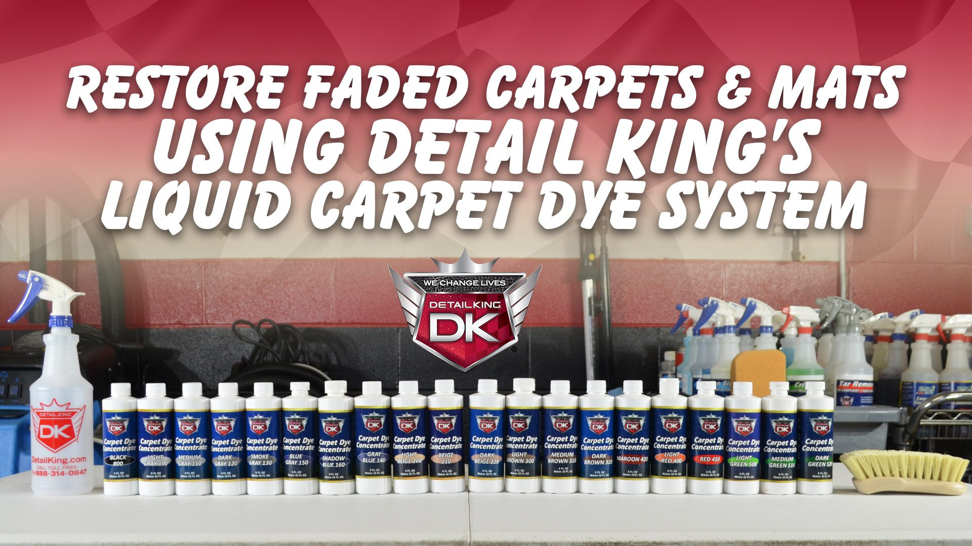 How To Restore Your Faded Carpets & Floor Mats – Detail King Liquid Carpet Dye System