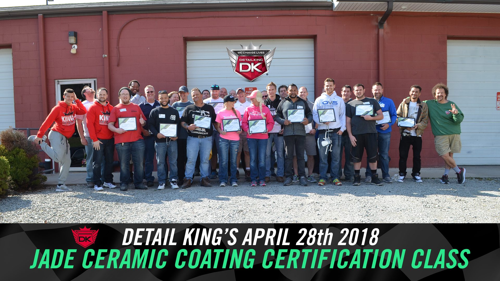 Detail King's FIRST Jade Ceramic Coating Certification Class! – April 28th 2018