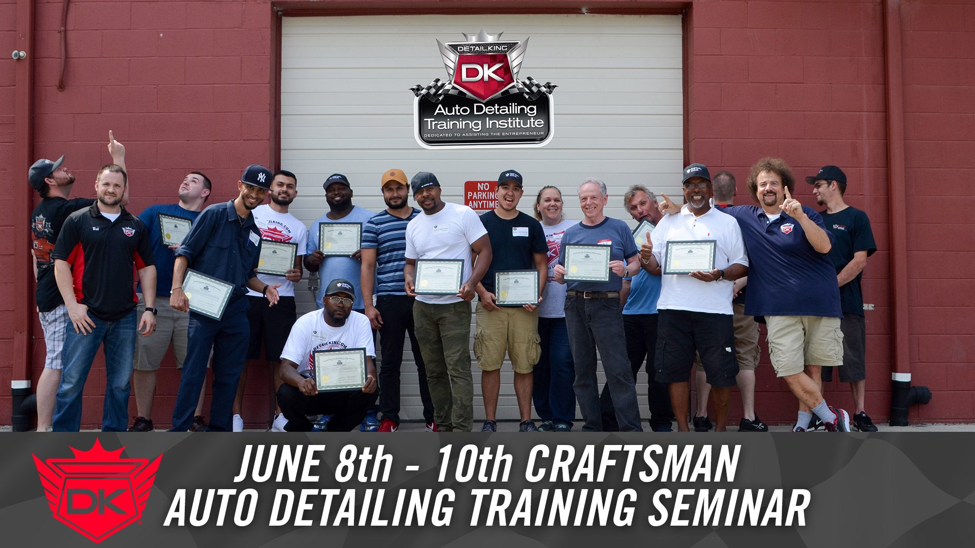 June 8th – 10th 2018 Craftsman Auto Detailing Training Seminar