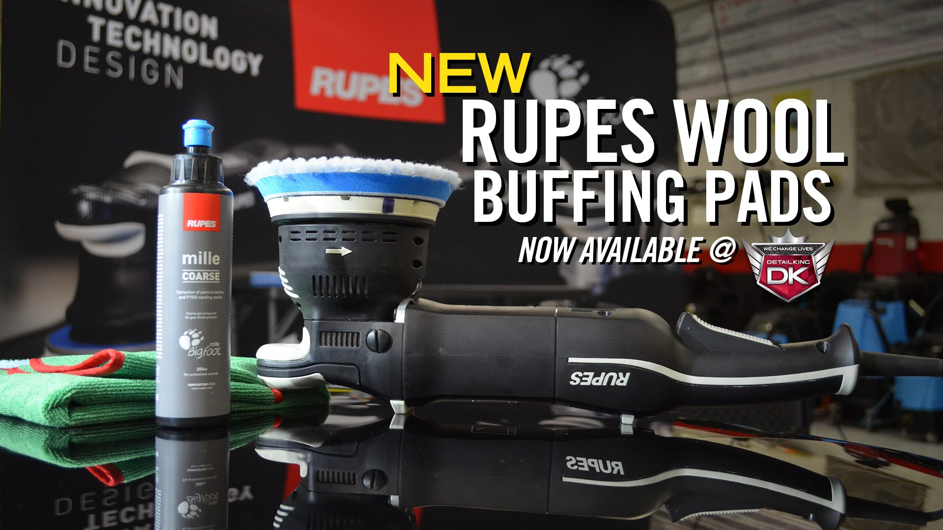 NEW Rupes Wool Buffing Pads