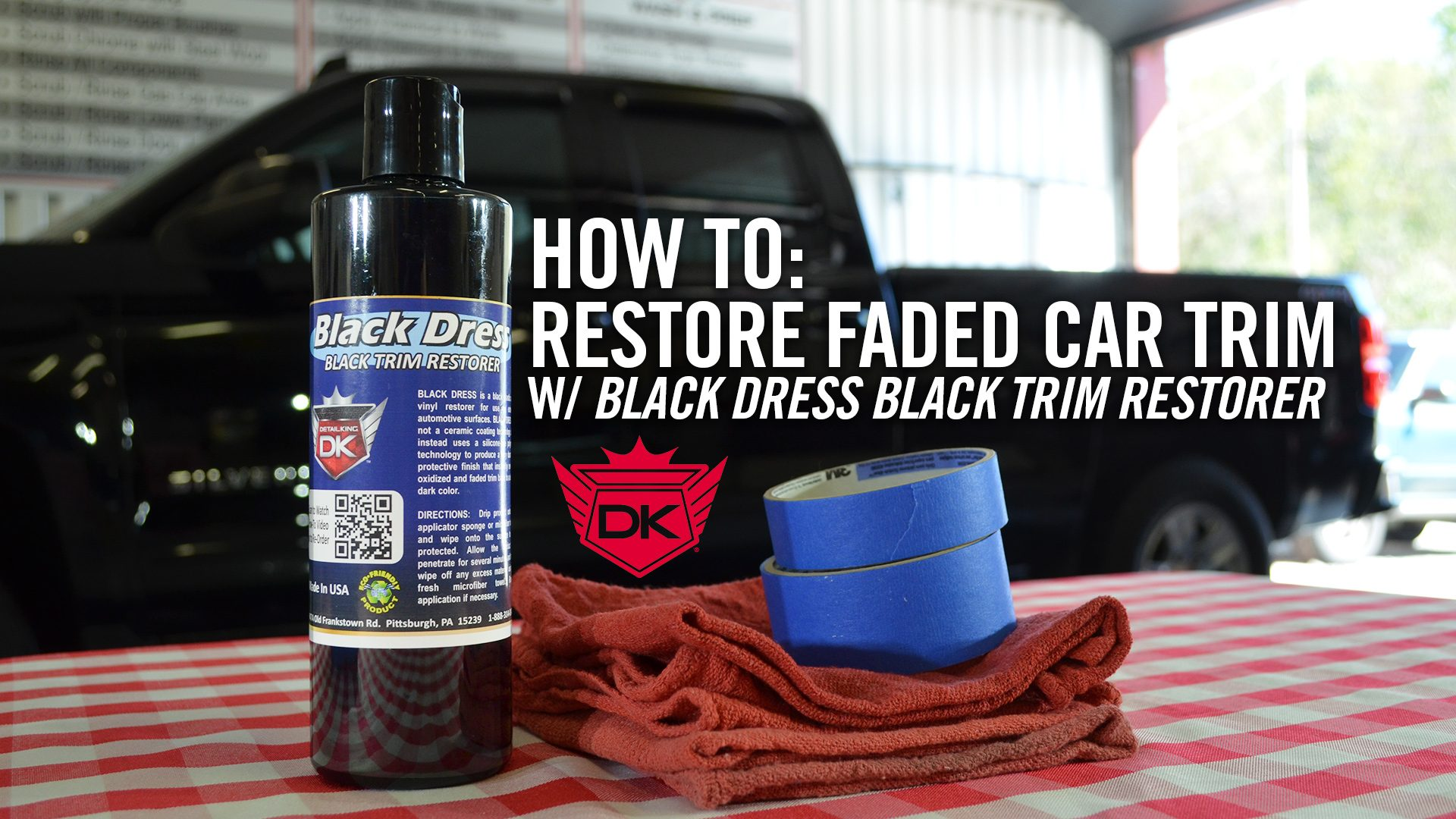 How To Restore Faded Car Trim with Black Dress Black Trim Restorer