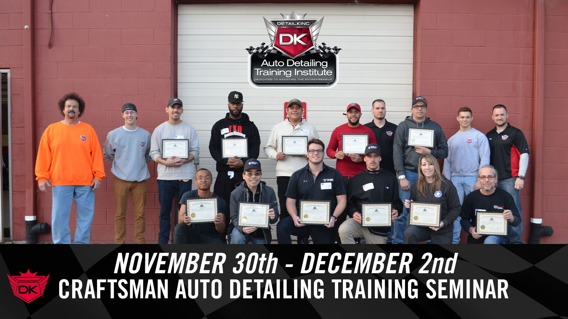November 30th – December 2nd 2018 Craftsman Auto Detailing Training Seminar