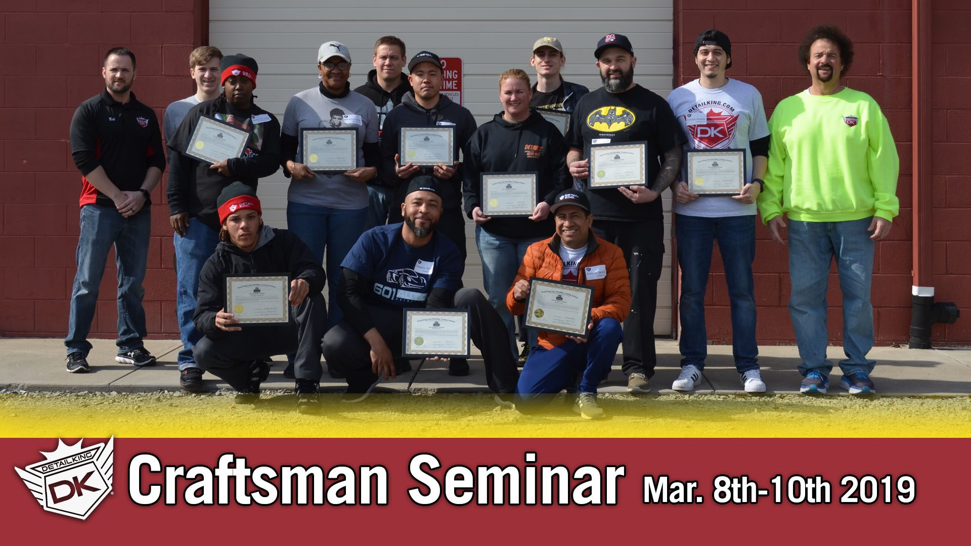 March 8th-10th 2019 Craftsman Auto Detailing Training Seminar
