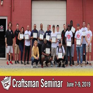 June 7th – 9th 2019 Craftsman Auto Detailing Training Seminar