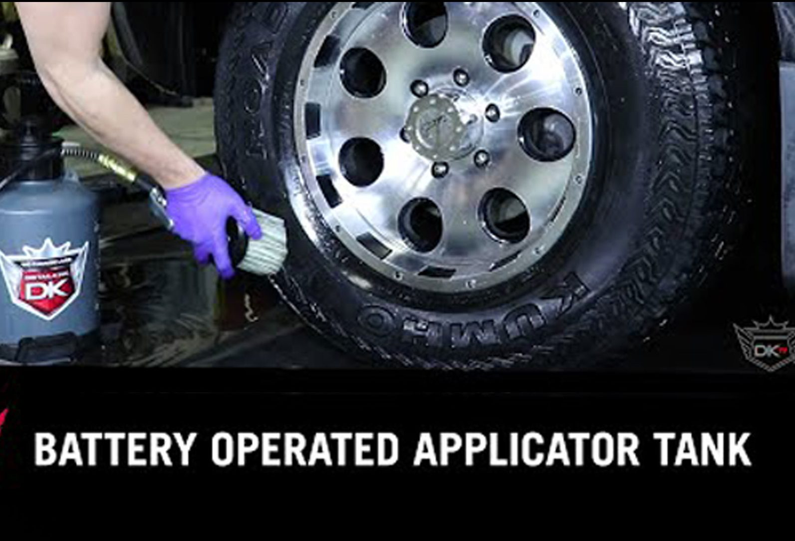 Easiest Way To Shine Your Vehicle's Tires | Battery Operated Tire Shine Applicator Tank | DIY
